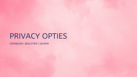 PRIVACY OPTIES