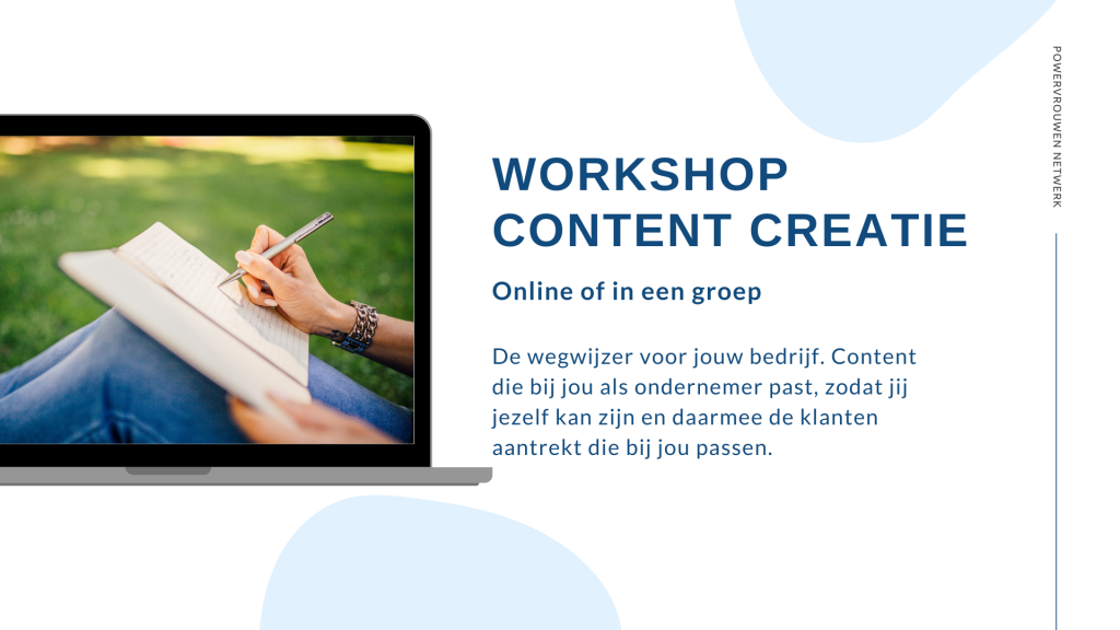 WORKSHOP CONTENT CREATIE