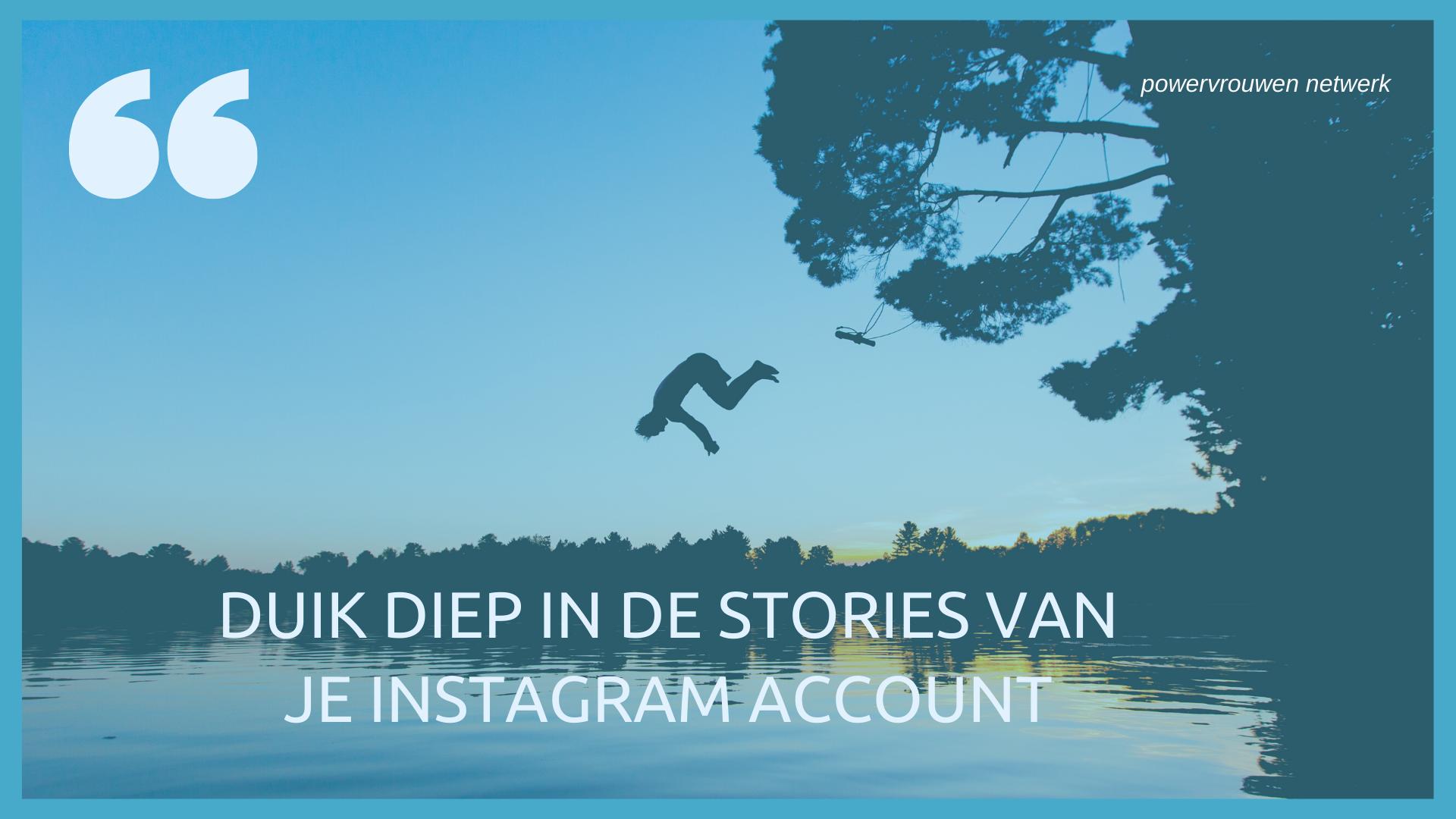 stories instagram statistieken