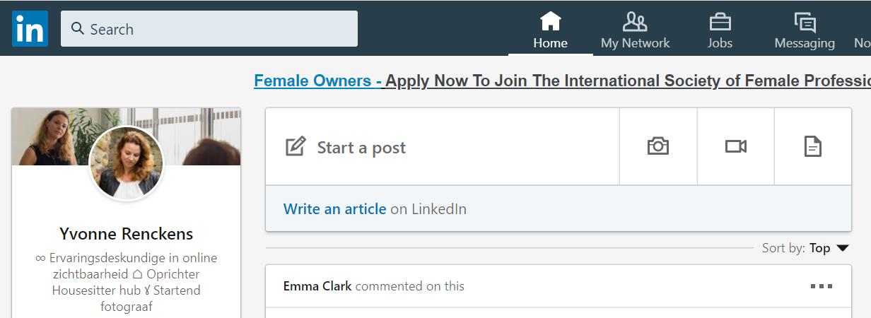 Post plaatsen op LinkedIn