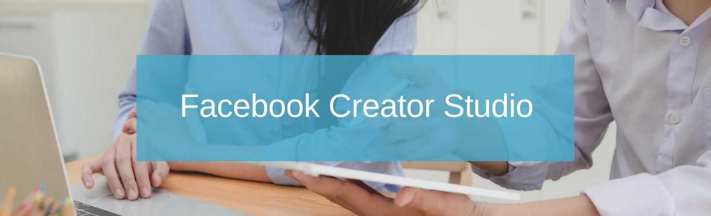 Instagram voor bedrijven Facebook creator studio
