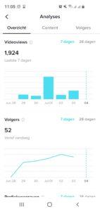 TikTok pro account statistieken